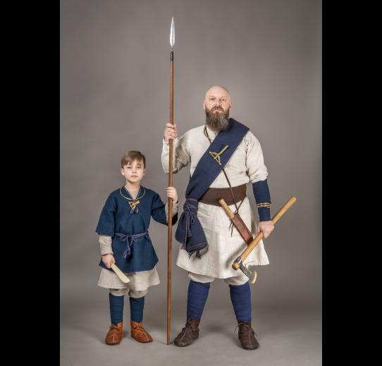 """VIII a. žiemgalių vyriško archeologinio kostiumo rekonstrukcijos interpretacija © Žiemių pradas """"Simkala"""""""