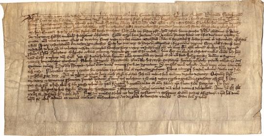 Gedimino 1323 m. sausio 25 d. laiškas. Lietuvos dailės muziejaus nuotr.