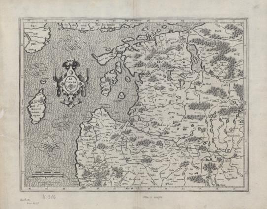 Gerardo Merkatoriaus Livonijos žemėlapis