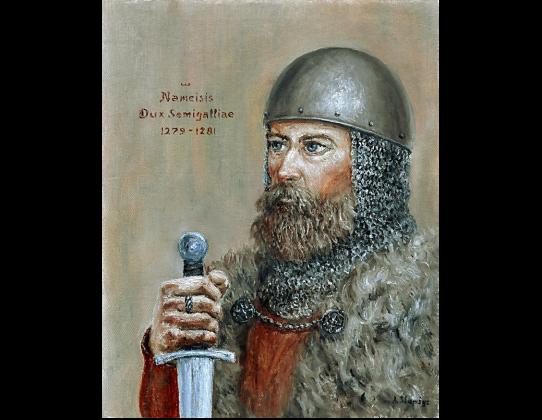 Nameisis, Dux Semigalliae 1279 - 1281. Dailininkas Artūras Slapšys, 2013 m., drobė, aliejus