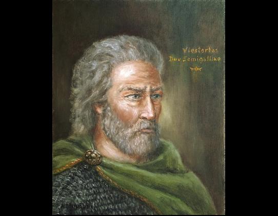Viestartas, Dux Semigalliae. Dailininkas Artūras Slapšys, 2014 m.