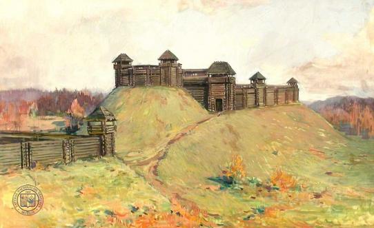 Tervetės pilis. Dailininkas Voldemārs Vimba