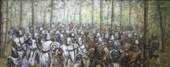 Garuozos mūšis. Dailininkas Artūras Slapšys, 2016 m.