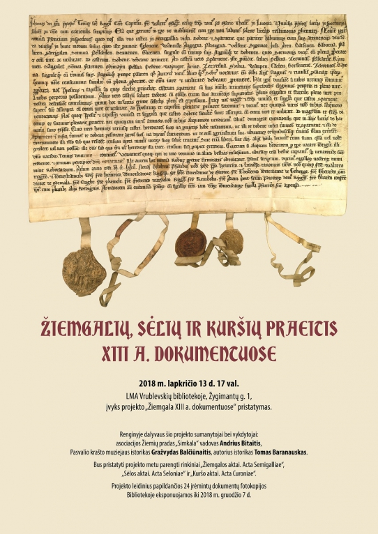 Žiemgalių, sėlių ir kuršių praeitis XIII a. dokumentuose
