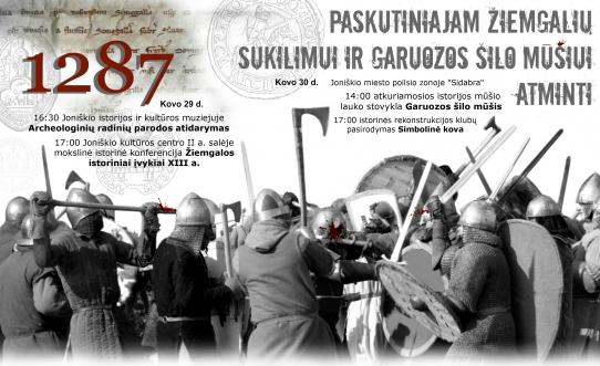Paskutiniajam žiemgalių sukilimui ir Garuozos šilo mūšiui atminti